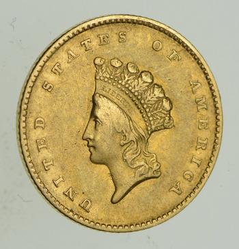 1855 Indian Princess Head Gold Dollar - Type 2 - Choice