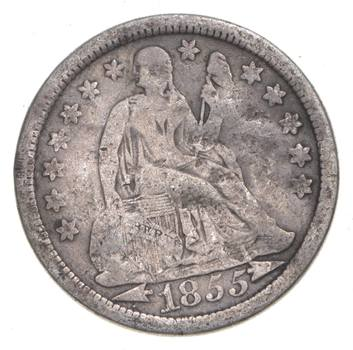 1855 Seated Liberty Dime - Charles Coin Collection