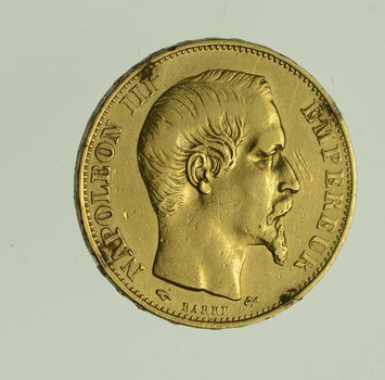 1859 France 20 Francs - World Gold Coin