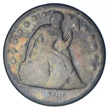 1860 Seated Liberty Silver Dollar - Circulated