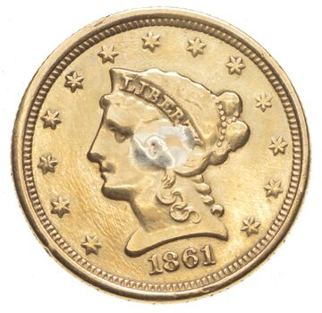 1861 $2.50 Liberty Head Gold Love Token