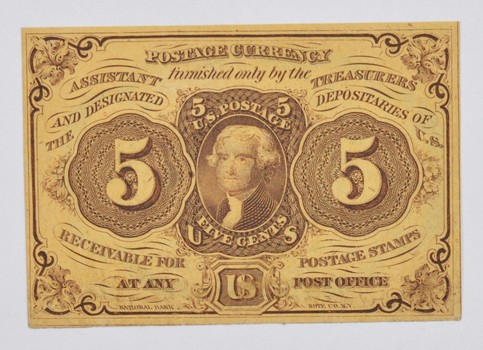 1862 5 Cents Postage Currency Note - First Issue - Fr. 1230