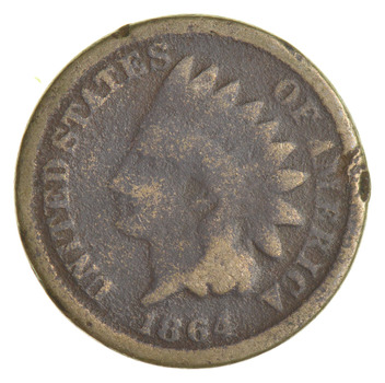 1864 Indian Head Cent Copper Nickel - Better Date