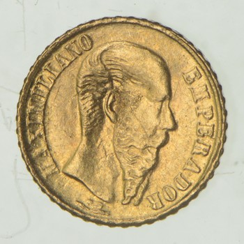 1865 Mexico Token 0.5 Grams GOLD!