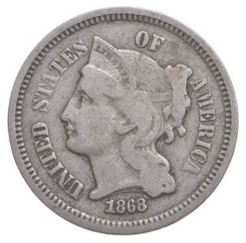 1868 Nickel Three-Cent Piece - Charles Coin Collection