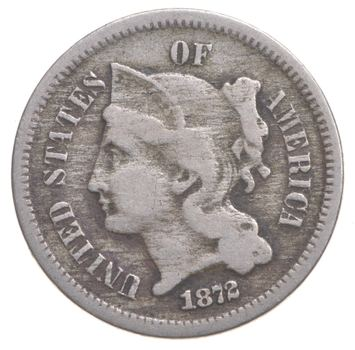 1872 Nickel Three-Cent Piece - Charles Coin Collection