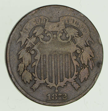 1872 Two-Cent Piece - Circulated