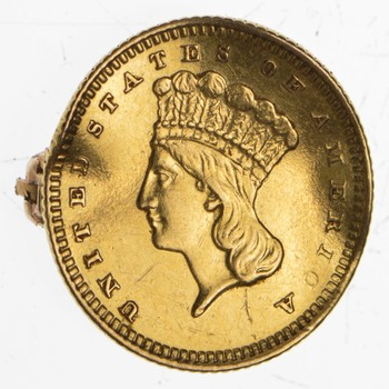 1873 Indian Princess Head Gold Dollar