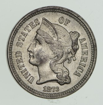 1873 Nickel Three-Cent Piece