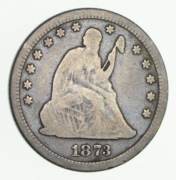 1873 Seated Liberty Quarter - Open 3