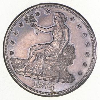 1873-CC Seated Liberty Silver Trade Dollar