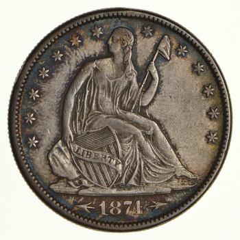 1874 Seated Liberty Half Dollar - Circulated