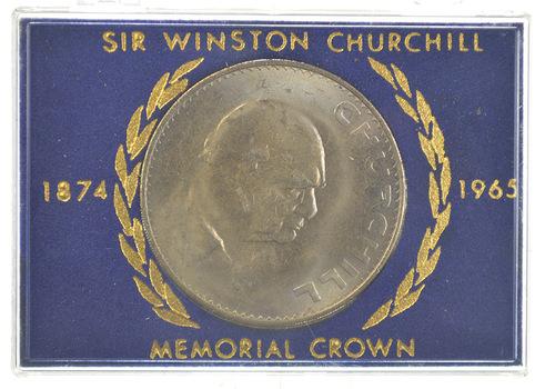 1874-1965 Sir Winston Churchill Memorial Crown In Display Case