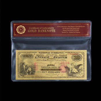 1875 - $10.00 National Currency - Replica Bank Note