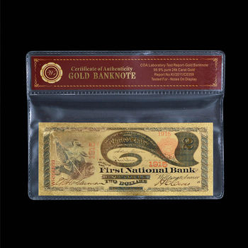 1875 'Lazy Duece' First National Bank - Replica Bank Note
