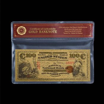 1875 - National Bank Currency - $100.00 - North Carolina - Replica Bank Note