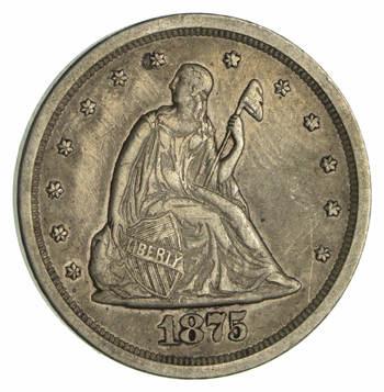 1875-S Seated Liberty Twenty-Cent Piece - Sharp!