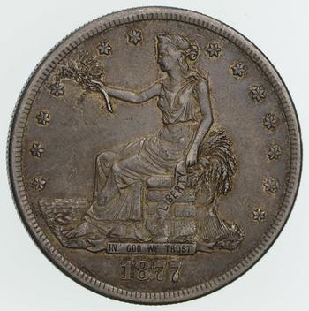 1877-S Trade Silver Dollar - SHARP