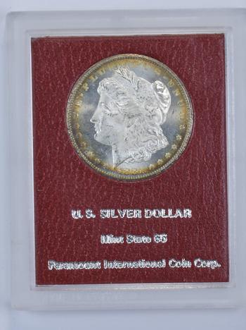 1881-CC Morgan Silver Dollar - Toned - Paramount