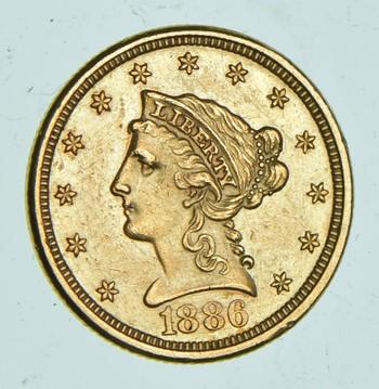 1886 $2.50 Liberty Head Gold Quarter Eagle