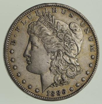 1886-O Morgan Silver Dollar - Sharp