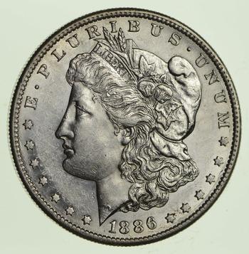 1886-S Morgan Silver Dollar - Choice