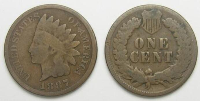 1887 Indian Head Cent - Over 120 Years Old