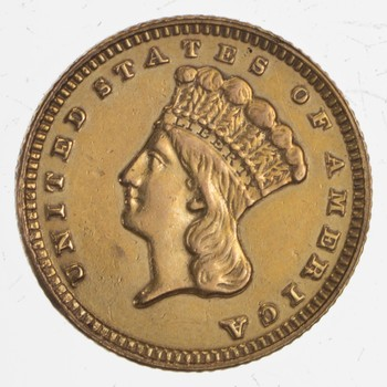 1888 Indian Princess Head Gold Dollar