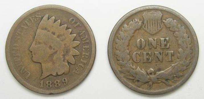 1889 Indian Head Cent - Over 120 Years Old