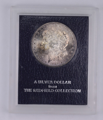 1889-S Morgan Silver Dollar - The Redfield Collection