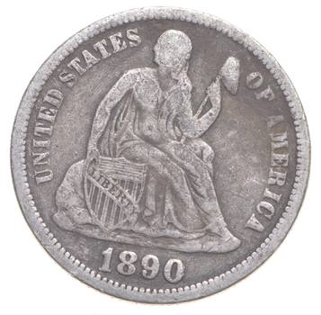 1890 Seated Liberty Dime - Charles Coin Collection