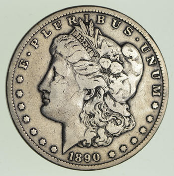 1890-CC Morgan Silver Dollar - Circulated