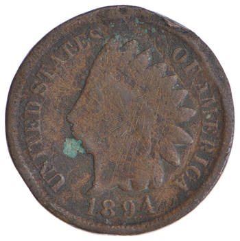 1890's KEY DATE - 1894 Indian Head Cent - Tough