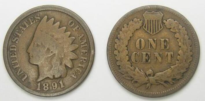 1891 Indian Head Cent - Over 110 Years Old