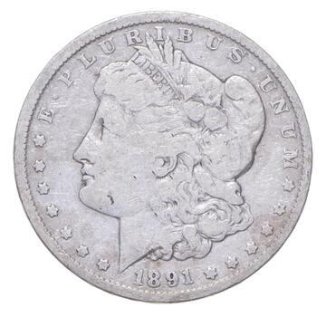 1891 Morgan Silver Dollar - US Coin