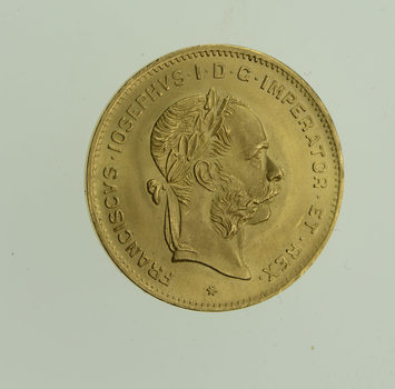 1892 Austria 10 Francs - World Gold Coin
