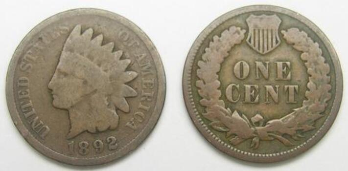 1892 Indian Head Cent - Over 110 Years Old