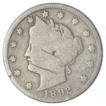 1892 Liberty V Nickel - Better Date - Check Red Book!