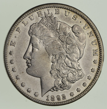 1892-CC Morgan Silver Dollar - Choice