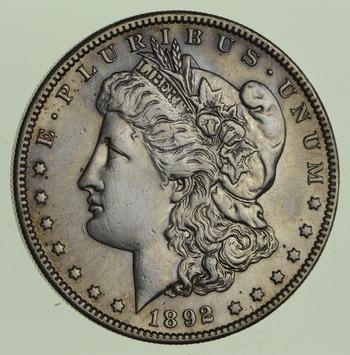 1892-S Morgan Silver Dollar - Near Uncirculated