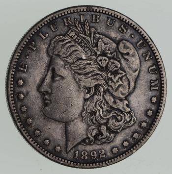 1892-S Morgan Silver Dollar - Sharp