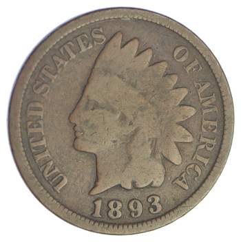 1893 Indian Head Cent - Over 110 Years Old