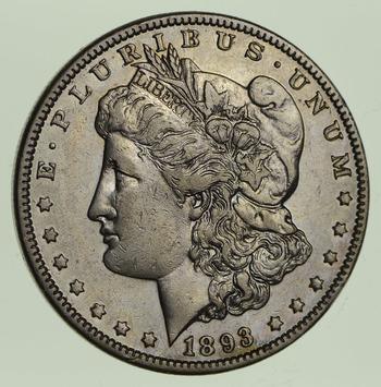 1893 Morgan Silver Dollar - Circulated