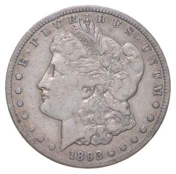 1893-CC Morgan Silver Dollar - Carson City