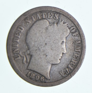 1896 Barber Liberty 90% Silver United States Dime