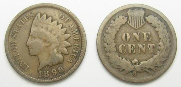 1896 Indian Head Cent - Over 110 Years Old