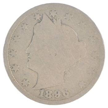 1896 Liberty V Nickel - 120 Years Old