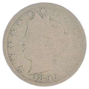 1896 Liberty V Nickel - 120 Years Old