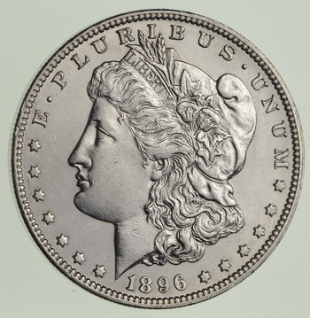1896-O Morgan Silver Dollar - Near Uncirculated