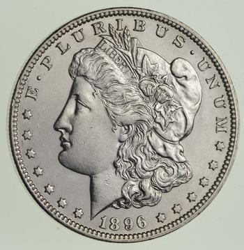 1896-O Morgan Silver Dollar - Near Uncirculated